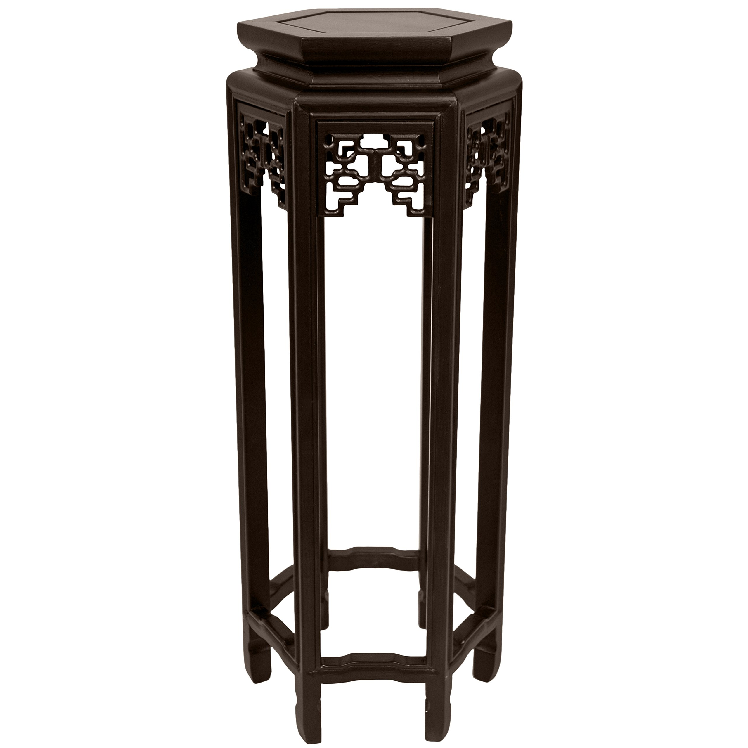 Oriental Furniture 28'' Hexagon Plant Stand