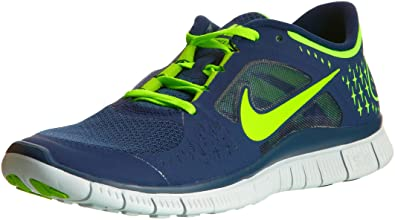sale retailer ee4eb fbf90 Nike Free Run 3 Navy Electric Green Barefoot Mens Running Shoes 510642-404   US