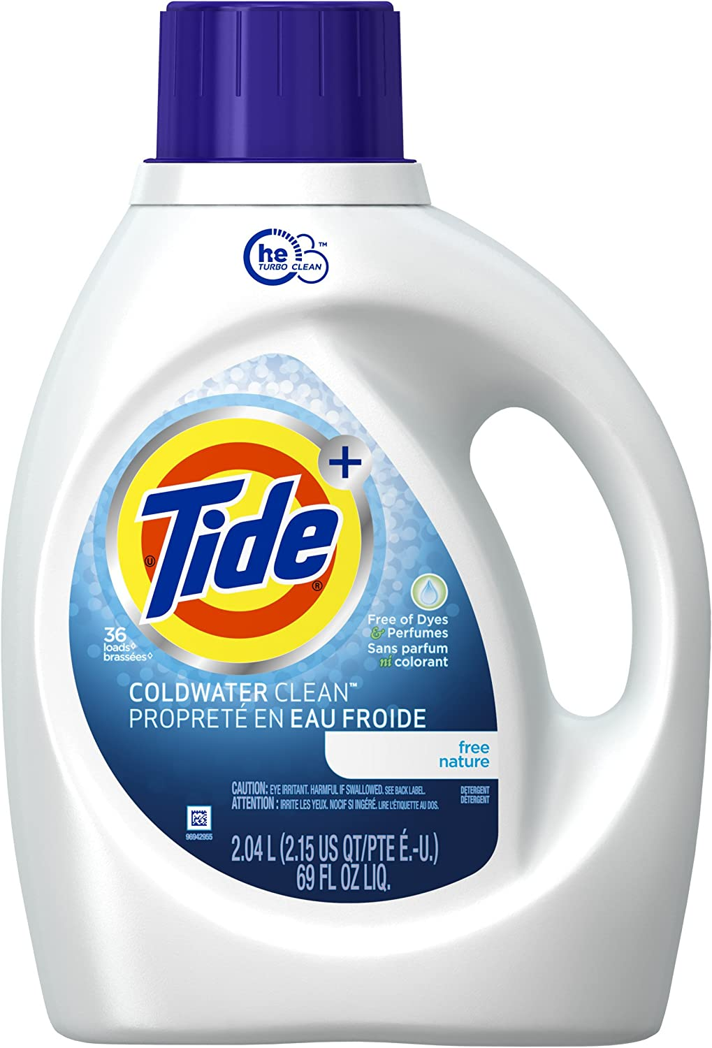 Tide Coldwater Clean Free High Efficiency Liquid Laundry Detergent 2 04 L 36 Loads Amazon Ca Health Personal Care