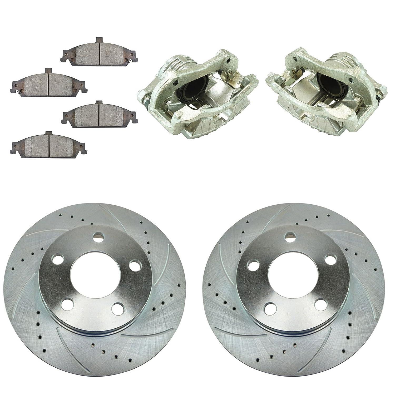 2009 2010 2011 Fit Toyota Matrix 1.8L OE Replacement Rotors w//Metallic Pads R