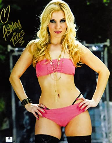 Ashley Fires Signed Autographed 11x14 Photo Adult Star Sexy Pink Outfit Gv830167 At Amazons Entertainment Collectibles Store