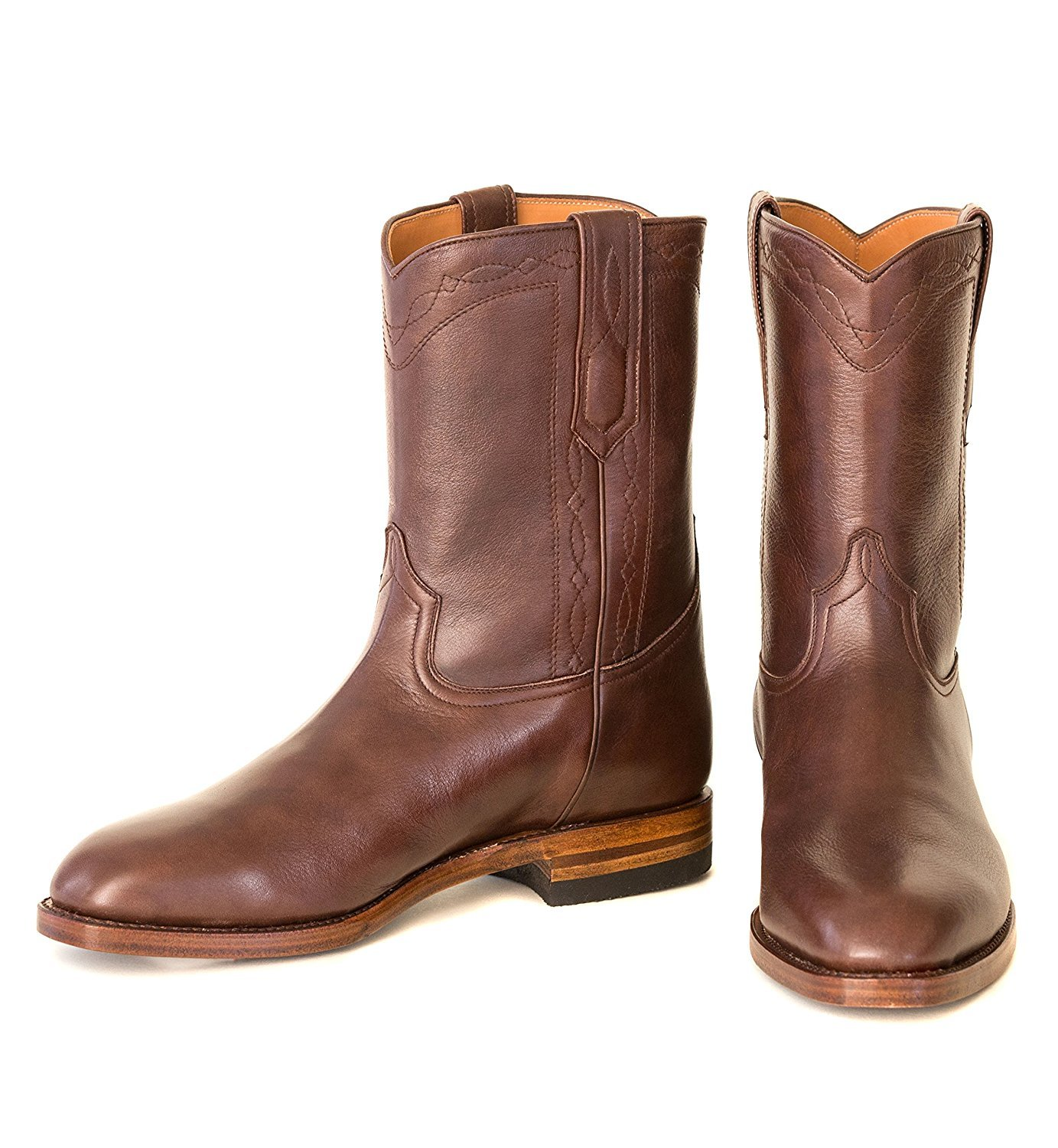 Ranch Road Boots Men's Bexar Cowboy Boot With Roper Heel US 13 Brown by Ranch Road Boots (Image #1)