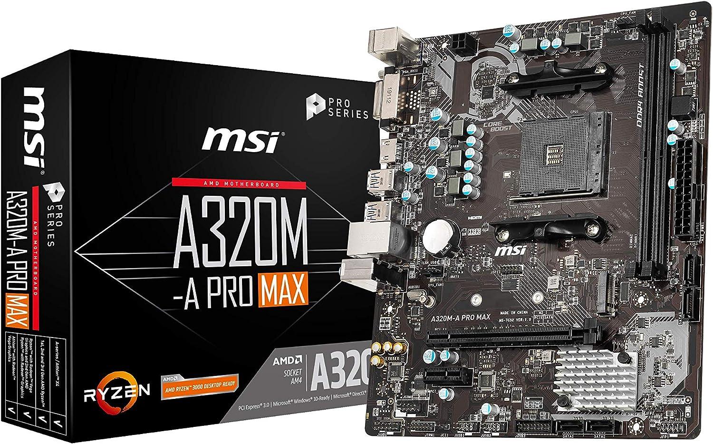 MSI Pro Max AMD A320 AM4 Micro ATX DDR4-SDRAM Motherboard
