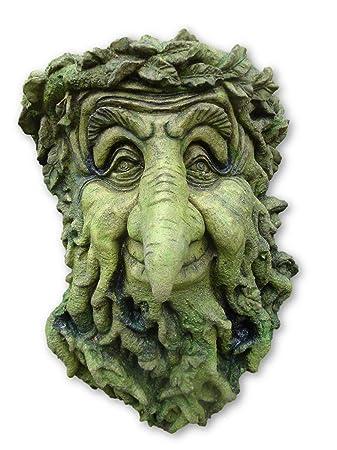 Brighthelm Stone Treebeard Green Man Decorative Wall Plaque