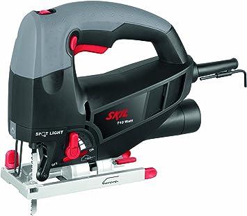 Skil 4581CA - Sierra de calar pendular con variador de velocidad (710 W, conexión para aspirador, soplador, hoja de sierra de calar): Amazon.es: Bricolaje y herramientas