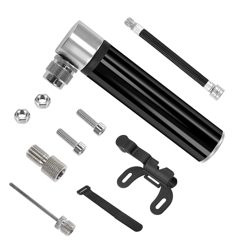 SHINYEVER Mini Bomba de Bicicleta,Bomba de Neumático de Bicicleta Micro,con Válvulas Presta y Schrader,Bombas de Marco para Bicicletas