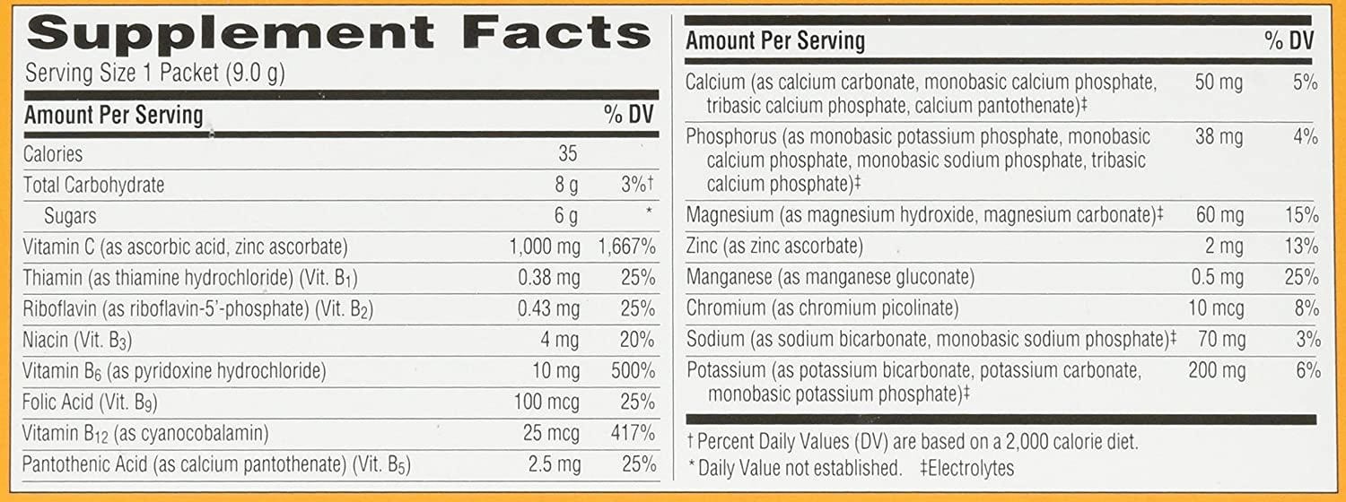 Amazon.com: Emergen-C Dietary Supplement Drink Mix With 1000mg Vitamin C, 0.32 Ounce Packets, Caffeine Free (Coconut/Pineapple, 30 Count): Health & Personal ...