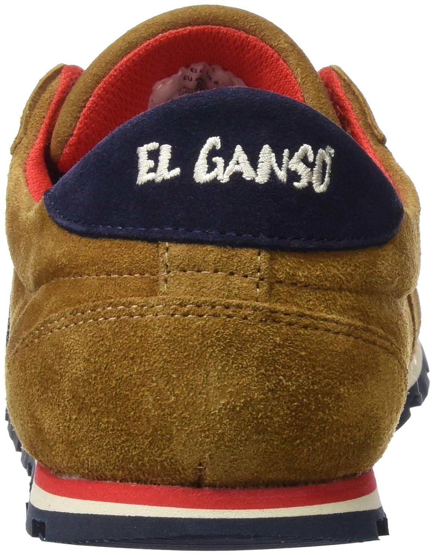 El Ganso Zapatilla Running Ante Cuero Cinta - Zapatillas para Hombre, Color marrón, Talla 36: Amazon.es: Zapatos y complementos