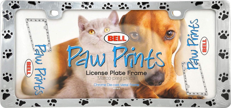 Bell Automotive 22-1-46104-8 Universal Black Paw Print Design License Plate Frame
