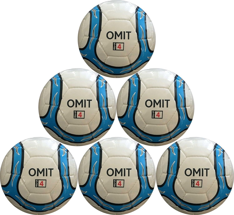 Omitサッカーボール – Hand Stitched – 合成100 % PU – ソフトタッチ(ホワイト/ブラック/ブルー, 4 ) B079KSF36W