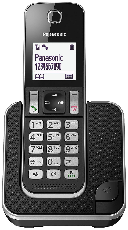 Panasonic KX-TGD320 - Teléfono (Teléfono DECT, Altavoz, 50 entradas, Identificador de Llamadas, Negro, Plata)