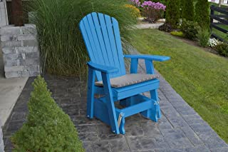 product image for Outdoor Poly Adirondack Gliding Chair - Blue