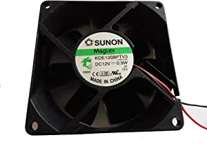 SUNON 8025 KDE1208PTV3 13.MS.A.GN 12V 0.9W 2Wire 8cm Cooling Fan
