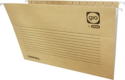 Elba Gio 400021952 - Caja de 25 carpetas colgantes para cajón, Fº, bicolor: Amazon.es: Oficina y papelería