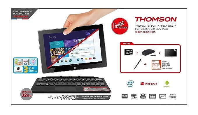 Thomson 2EN1 Dual 10P Tablette Tactile 10.1
