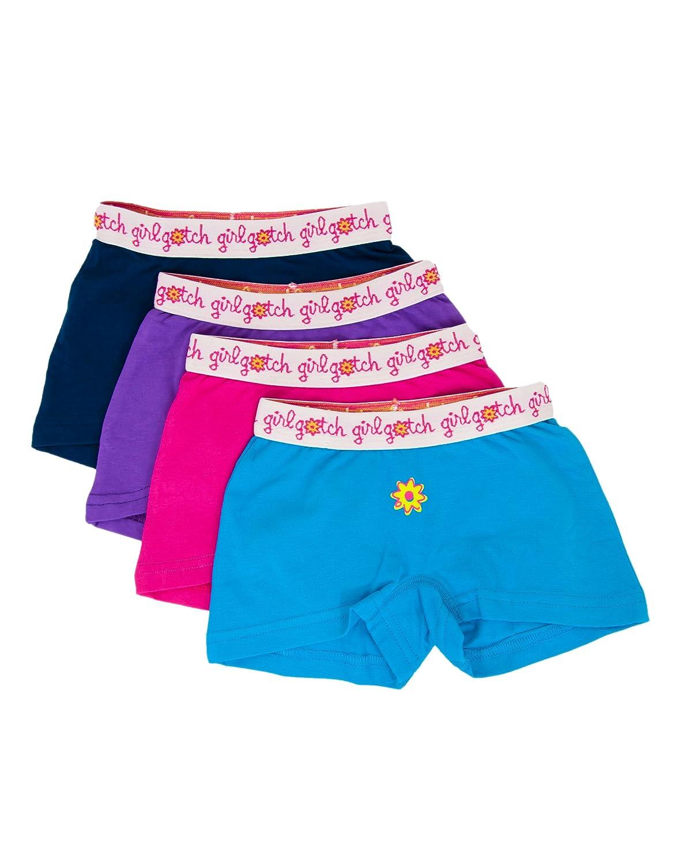 Girl Gotch Girls' Original Boyshorts, Tagless, Soft Cotton, Underwear 62801801002-$P