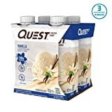 Quest Nutrition Vanilla Protein Shake, High Protein, Low Carb, Gluten Free, Keto Friendly, 12Count