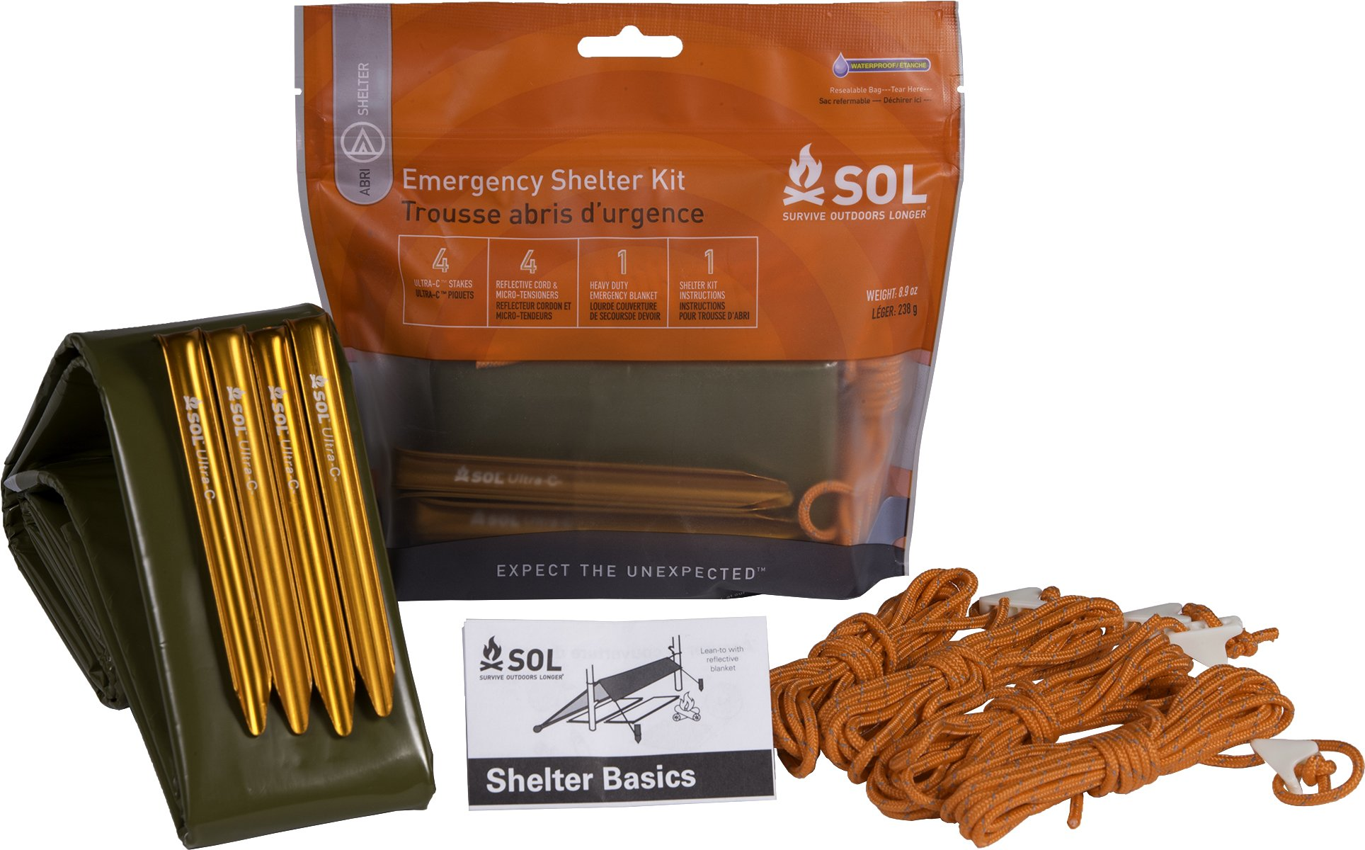 Amazon.com  S.O.L. Survive Outdoors Longer Emergency Shelter Kit ... 1d5bc1147d