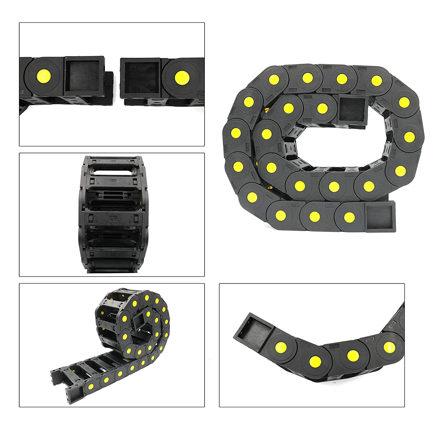 25x77 mm Nylon Plastic 1M//39.37 inch Length Wire Carrier Cable Drag Chain YaeTool R55 Drag Chain 0.98x3.03 in
