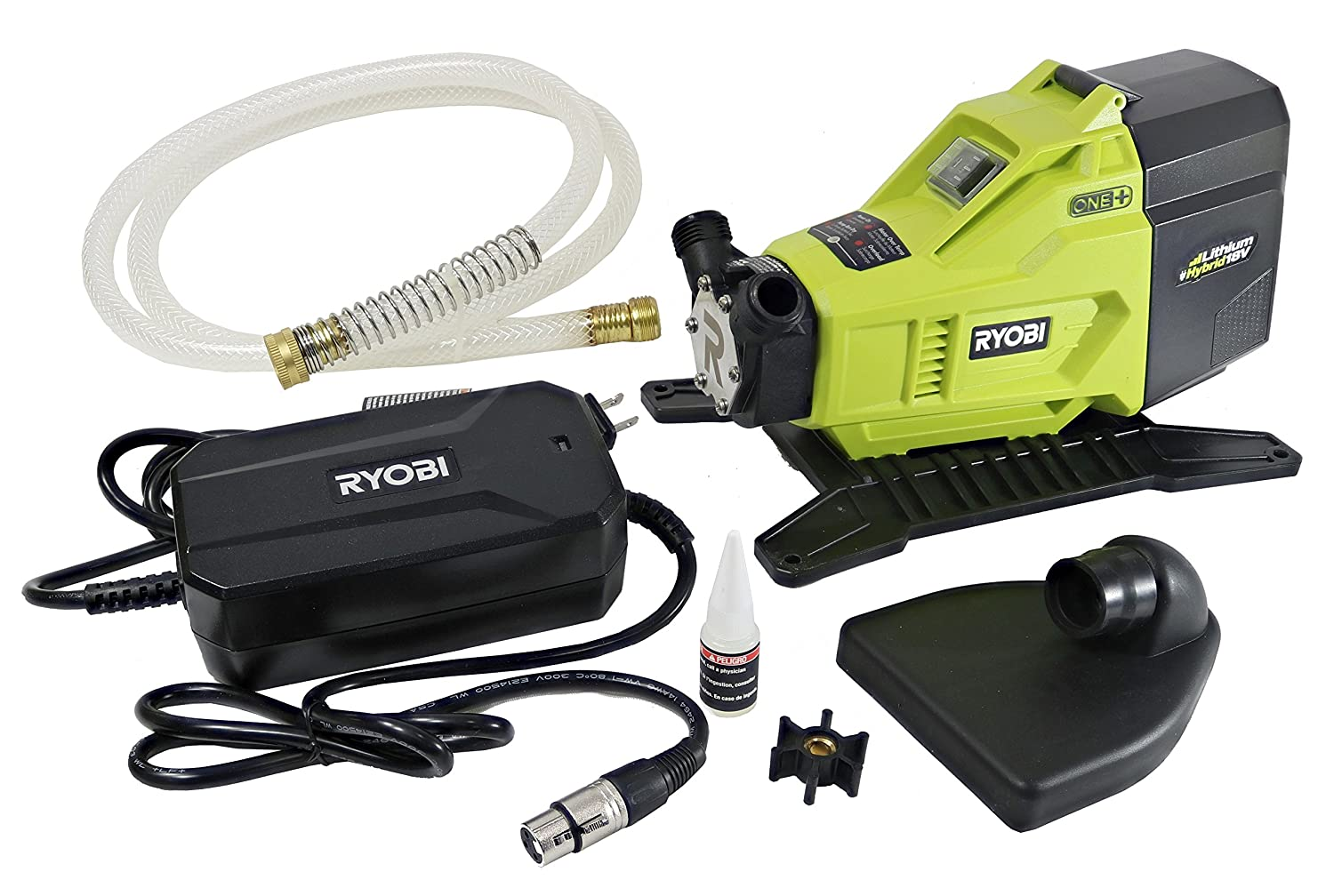 Ryobi P750 One+ 18V Hybrid Lithium Ion Battery or 120V AC Powered Portable Potable Water Transfer Pump (Battery Not Included, Tool Only)