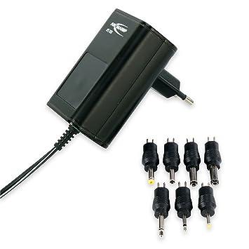 ANSMANN Cargador universal APS 1000 para aparatos electrónicos - Potencia de 3 a 12V 12W - Con 7 conectores de recambio - Fuente de alimentación