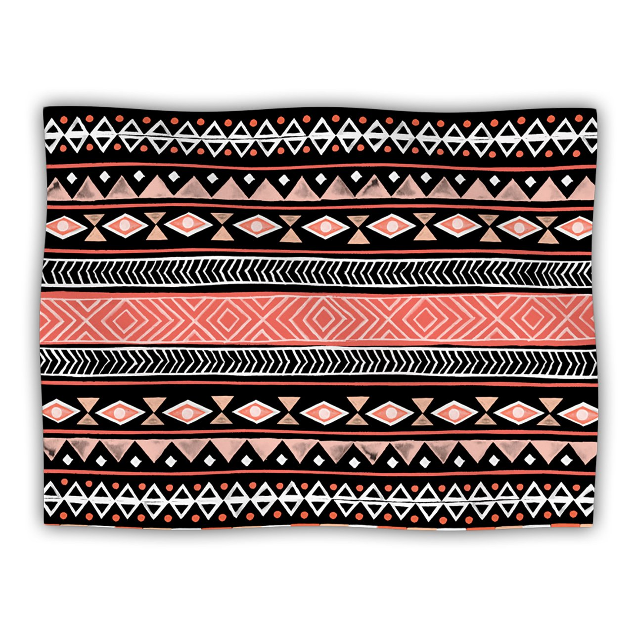 Kess InHouse Skye Zambrana Mojave Black  Black Red Pet Blanket, 60 by 50-Inch