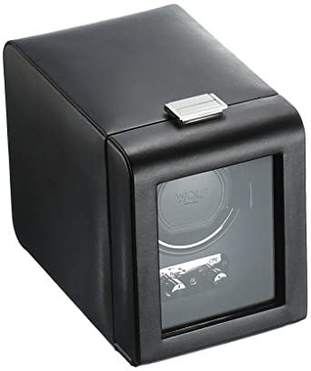 amazon com wolf 270002 heritage single watch winder with cover