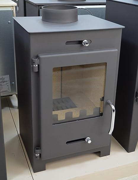 Estufa de leña quemador de leña Multi Combustible Top Flue 5/7 KW Bora Lux