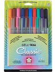 Sakura 37379 - Juego de 5 bolígrafos de tinta de gel, punta fina, varios colores