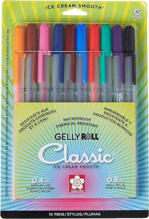 New Sakura Gelly Roll Metallic Rollerball Pen assorted color mix 13 Pens!!