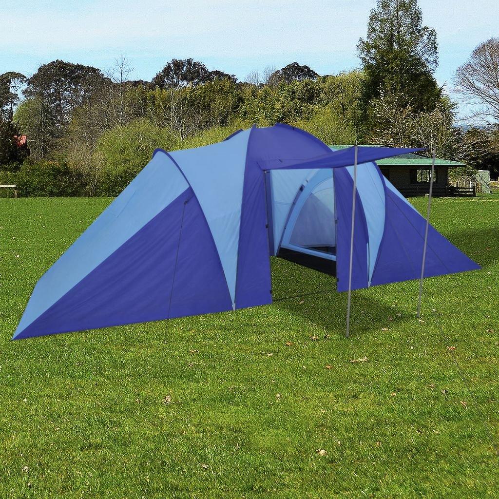 FZYHFA Zelt Marineblau, aus Polyester, Strandzelt, Faltbar, 580 x 240 x 200 cm, für: 6 Personen