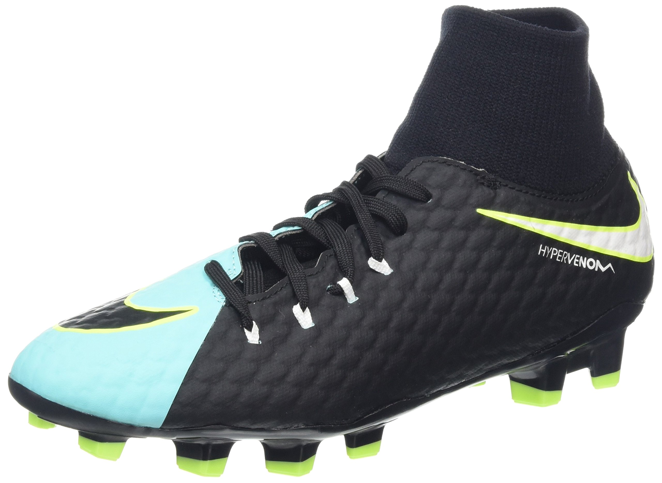 Nike New Women's Hypervenom Phelon III Dynamic Fit FG Soccer Cleat Aqua/Black 7.5