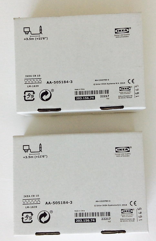 2 Pack Ikea JANSJ/Ö LED Clamp Spotlight Black
