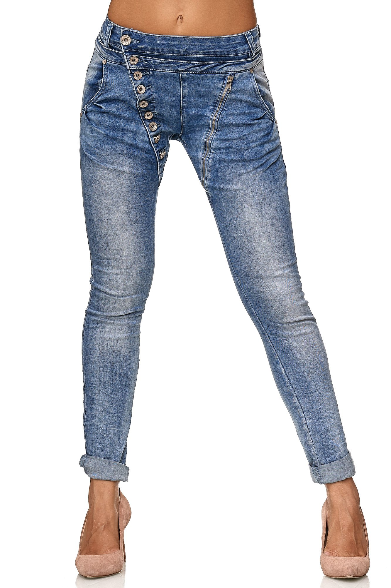 Elara Mujer Jeans | Botones | Cremallera | chunkyr Ayan product image