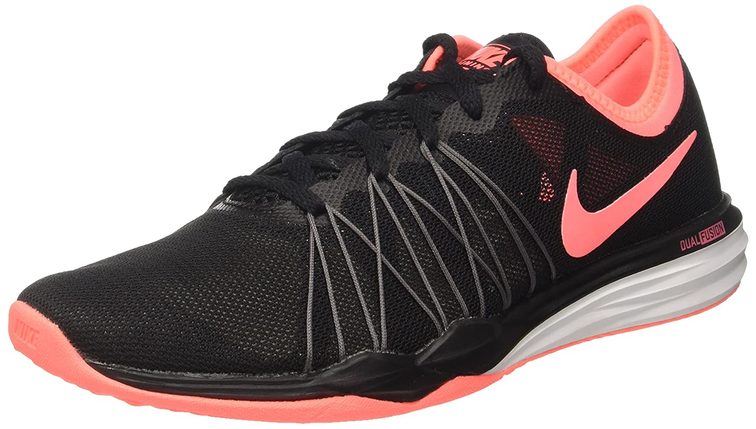 Touhou vértice Planta de semillero  Buy Nike Women's WMNS Dual Fusion Tr Hit Black/Lava Glow Multisport  Training Shoes-4 (844674-5) at Amazon.in