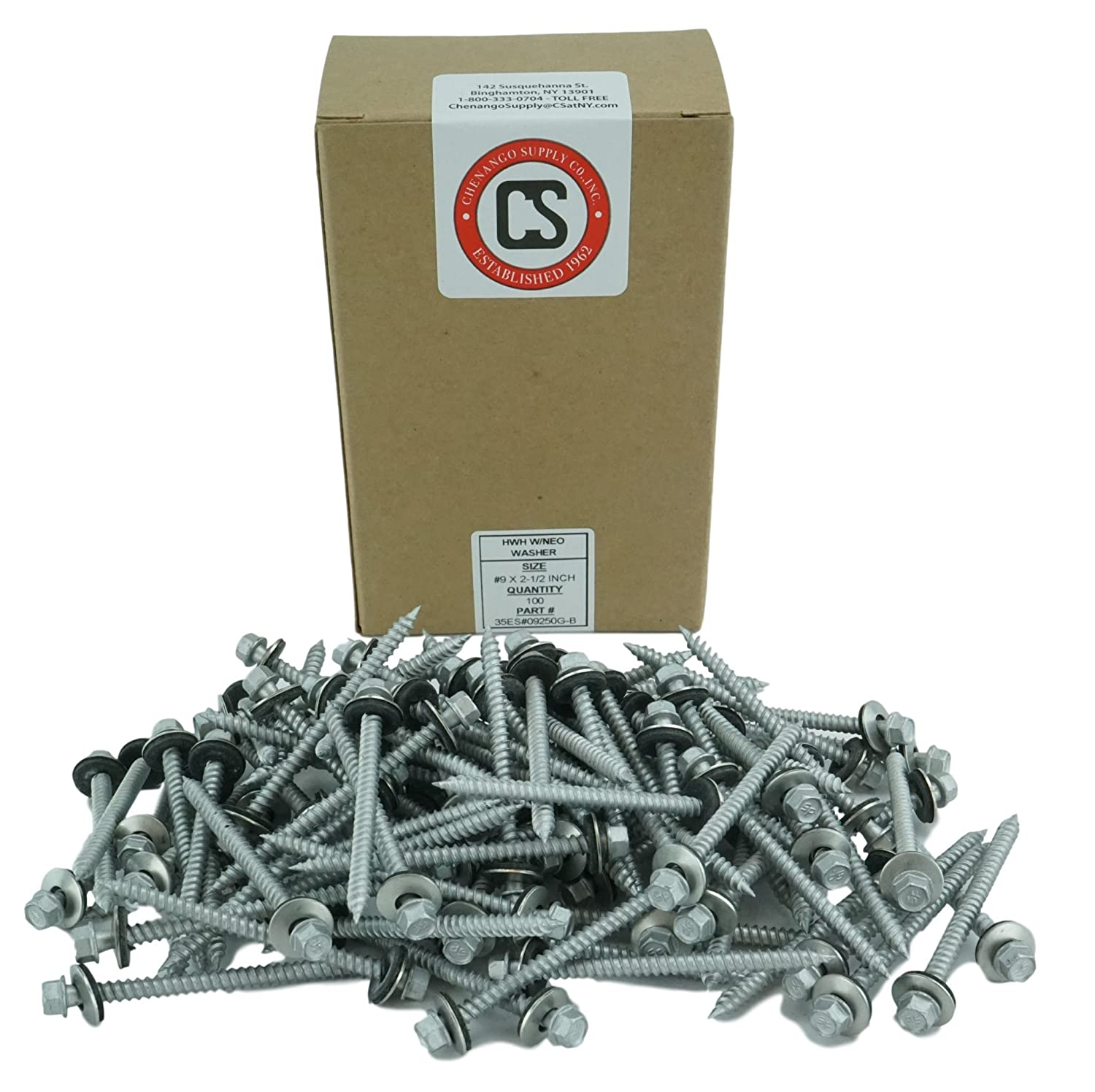siding Screws with EPDM Washer Seal.100 PCS Sheet Metal Roofing Self Starting//self Tapping Metal to Wood #10 x 3 Hex Washer Head Metal Roof Screw. #10 x 3 Multiple Sizes in Listing