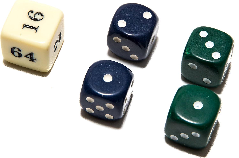 Bello Games Uria Stone Backgammon Dice Sets-Green/Blue 5/8 Bello ...