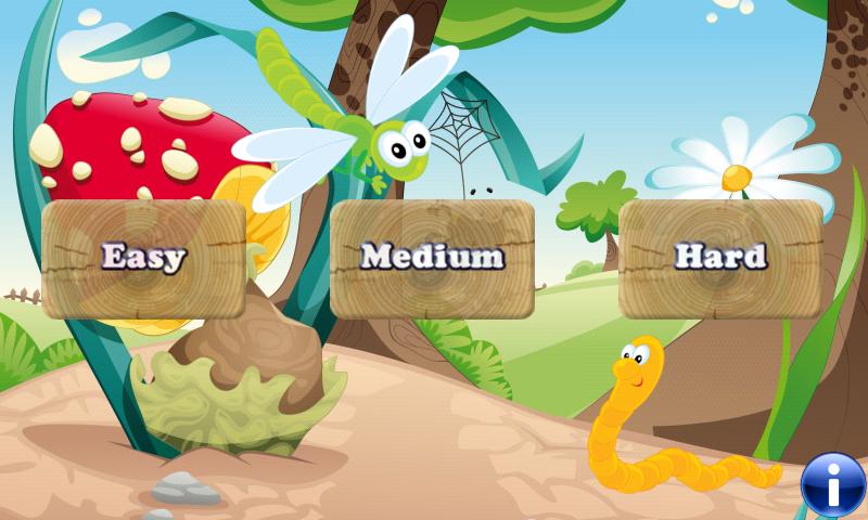 Los insectos y los gusanos juego para los niños