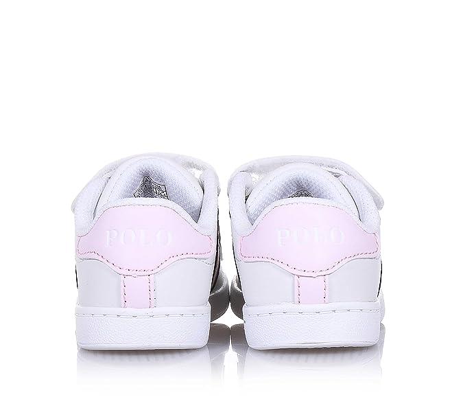 70b14fb5464 Polo Ralph Lauren - Zapatos de Cordones para niño Blanco Size  22 EU   Amazon.es  Zapatos y complementos