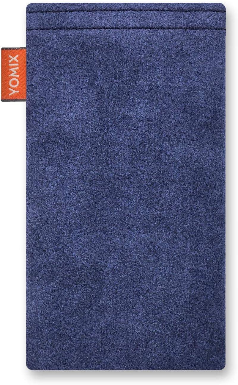 Made in Germany H/ülle mit Reinigungsfunktion YOMIX Emma mit Strahlenschutz Handytasche Tasche f/ür Motorola Moto G7 Power aus beschichteter Baumwolle mit Microfaserinnenfutter
