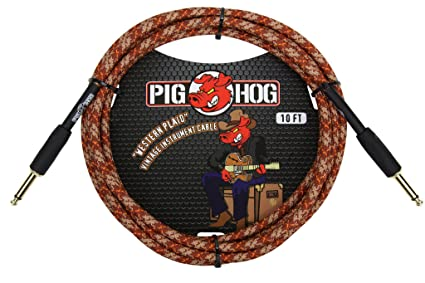 Amazon.com: Pig Hog 10 pies clásico Series Cable de audio ...