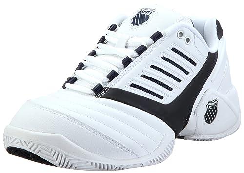 K-Swiss Surpass~White/Navy~M, Zapatillas de Tenis para Hombre, Blanco, 40 EU: Amazon.es: Zapatos y complementos