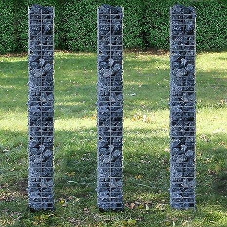 pro.tec] Set de 3 gaviones (planta cuadrada - 25cm) (3x 200 ...