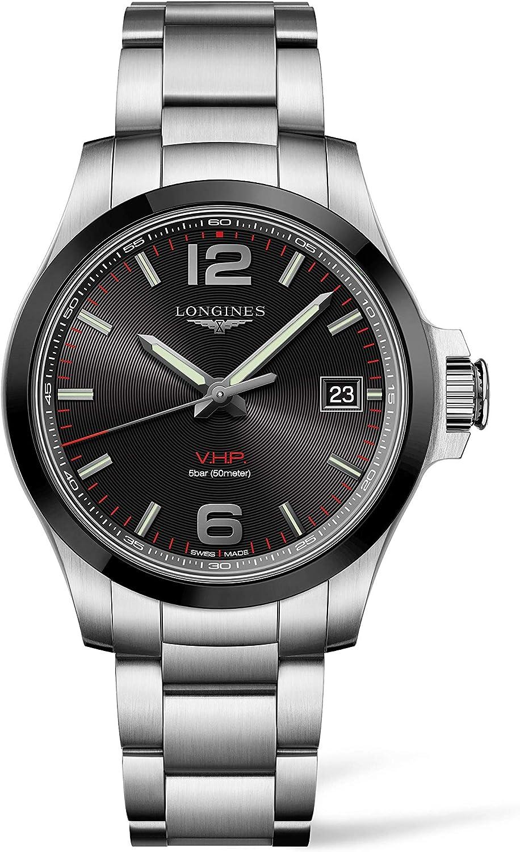 Longines orologio uomo Conquest VHP 41mm ghiera Acciaio PVD Nero L3.719.4.56.6