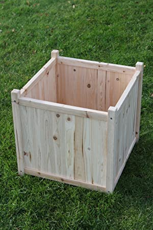 SET OF 2 Large Wooden Garden Planter Or Plant Pot Cover For Indoor Or  Outdoor Use