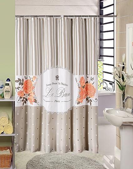 Custom Shower Curtain New Flat Screen Printing Polyester Bathroom Curtains