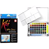 Koi Watercolor Pocket Field Sketch Box - 48 Colors-Assorted Colors