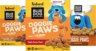 product image for Blue Dog Bakery Natural Dog Treats, Doggie Paws, Original, Peanut Butter & Molasses Flavor