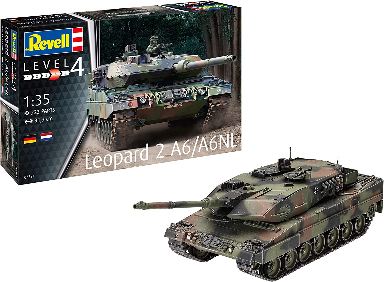 Bundeswehr Neu Revell 03281-1//35 Kampfpanzer Leopard 2A6//A6NL