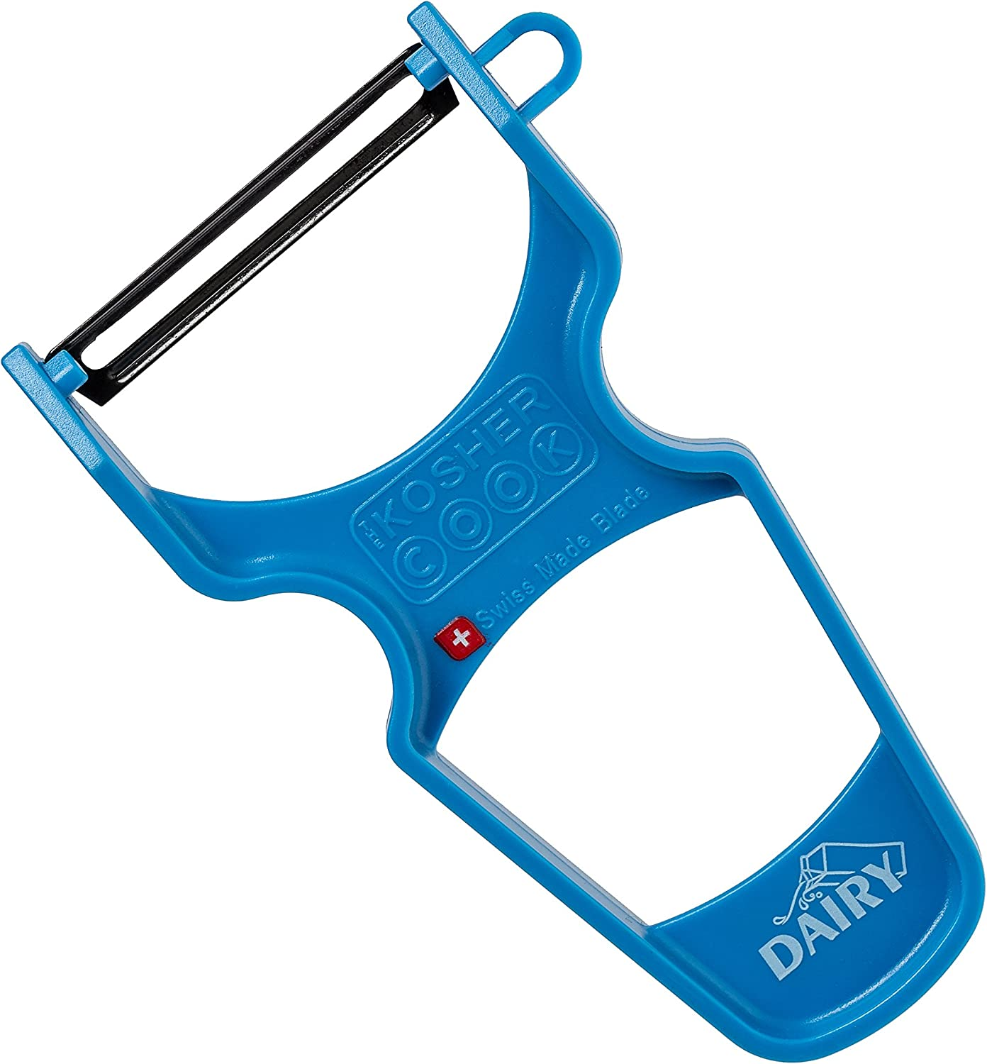 Dairy Blue Y Vegetable Peeler - Heavy Duty, Ultra Sharp Carbon Steel Swiss Blade, Ergonomic Plastic Handle - Color Coded Kitchen Tools by The Kosher Cook